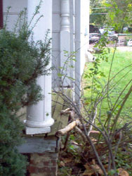 Rotted column base - Kitchener Home Inspector